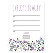 Invitaciones en blanco Colorful Garden, púrpura