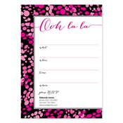 Invitaciones en blanco Ooh La La, rosado