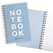Stacked Letters Notebook