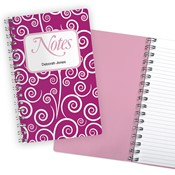 Purple Swirls Notebook