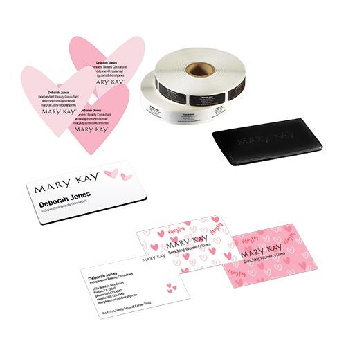 Juego Heartfelt para crear tu negocio, con sellos con forma de corazón
