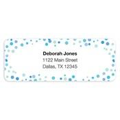Etiquetas de dirección Confetti Dots, azul