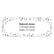 Etiquetas de dirección Confetti Dots, púrpura