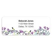 Etiquetas de dirección Colorful Garden, púrpura