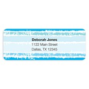 Painted Stripes Blue Address Labels