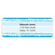 Etiquetas de dirección Painted Stripes, azul