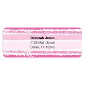 Etiquetas de dirección Painted Stripes, rosado