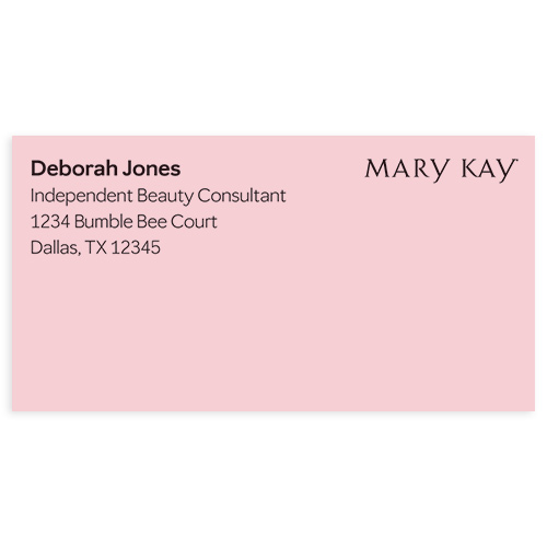Etiquetas de dirección rosadas