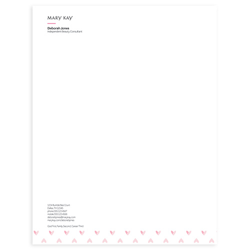 Heartfelt Letterhead Sheets