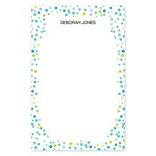 Confetti Dots Blue Large Notepad