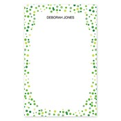 Confetti Dots Green Large Notepad