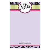 Fashionable Fun Purple Large Notepad