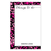 Things To Do Pink Large Notepad