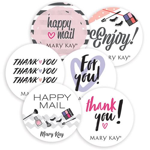Sellos de embalaje con notas de agradecimiento