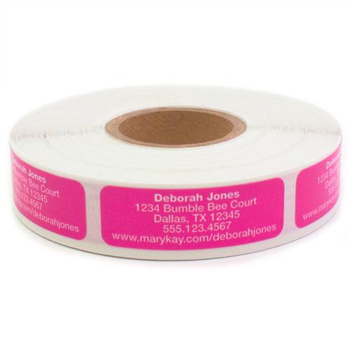Etiquetas para pedidos de reposición de productos, rosado brillante