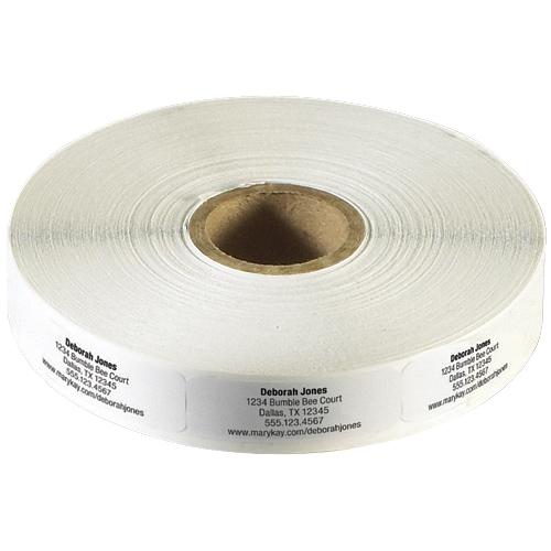 Etiquetas blancas para pedidos de reposición de productos