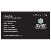 Advanced Skin Care Consultant Business Card, Black