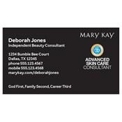Tarjeta de presentación para consultora, Advanced Skin Care, negra