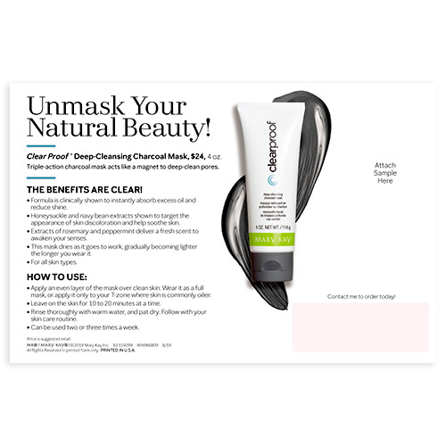 Mary Kay Charcoal Mask Sample Cards, Non-Personalized