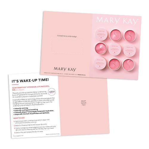 Tarjetas para muestras de parches de hidrogel para ojos Mary Kay, no personalizadas
