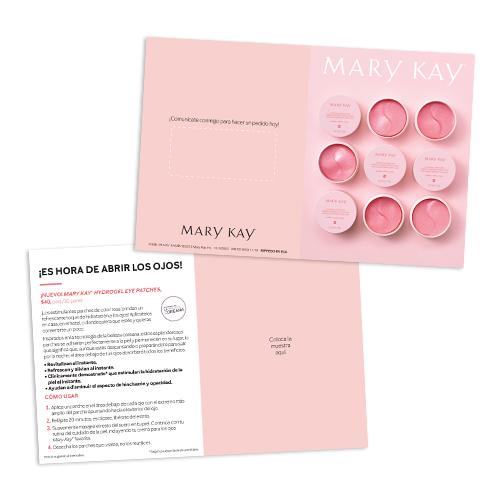 Tarjetas para muestras de parches de hidrogel para ojos Mary Kay - Español, no personalizadas