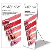 Cartel de pie personalizado para eventos, colores labiales