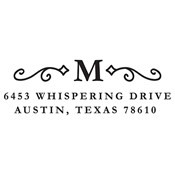 Monogram Scroll Address Stamp