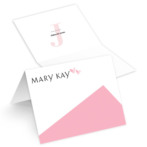 Monogram Folded Note Cards