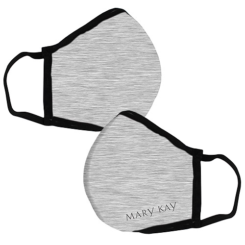 Mascarilla gris con logotipo de Mary Kay