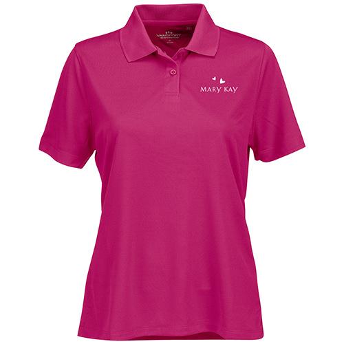 Camiseta rosada Polo para mujer