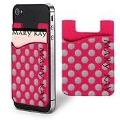 Billetera MK para teléfono celular, rosada