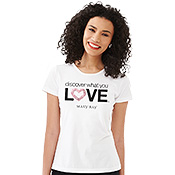 Camiseta Discover What You Love con brillo