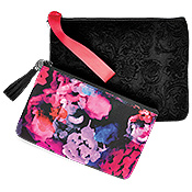 Wristlet and Cosmetic Bag Combo