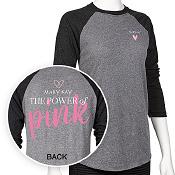 Camiseta mangas 3/4 The Power of Pink