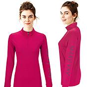 Suéter rosado con media cremallera Mary Kay